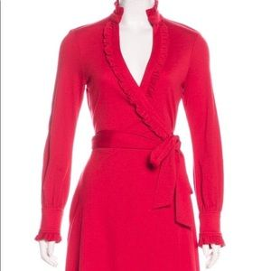 DVF Diane von Furstenberg Volante wool Wrap Dress